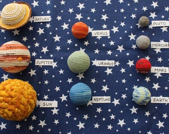 Crocheted Solar System, Stuffed planets