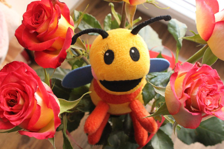 Small Bee Fleece Toy | Etsy