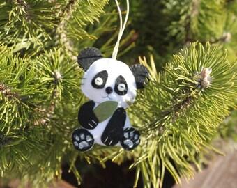 Panda Felt Ornament