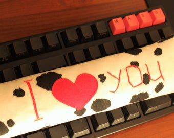 Plush wrist rest can be personalized