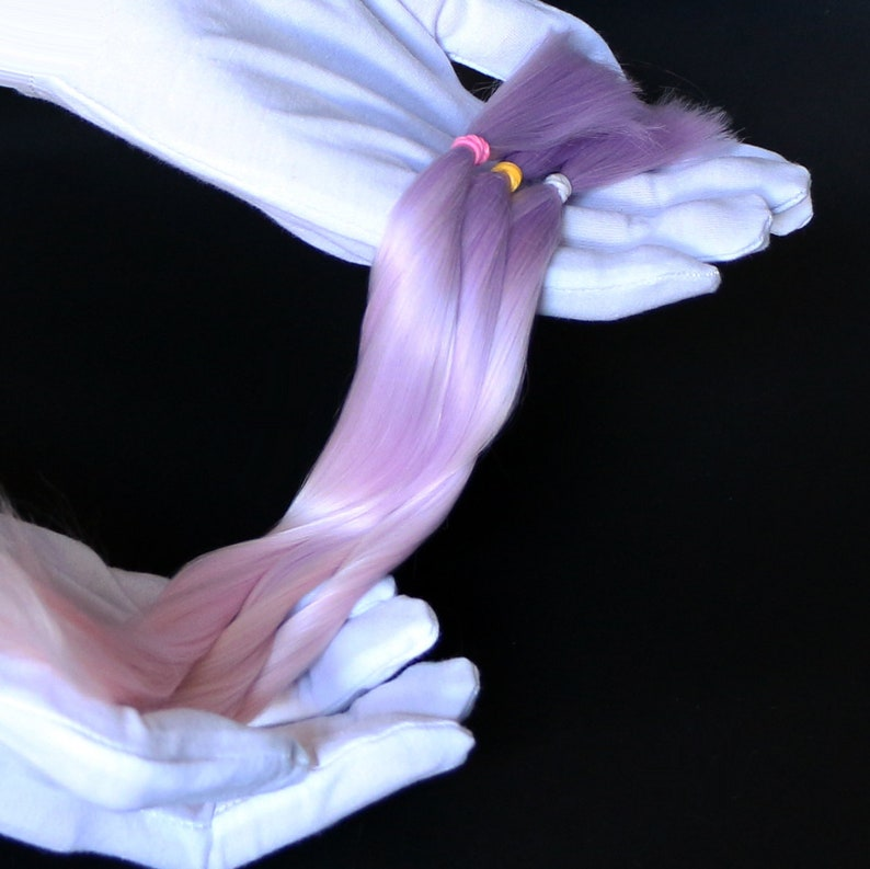lilac/pink pastel Suri Alpaca Cria hair for dolls  Fiber for image 0