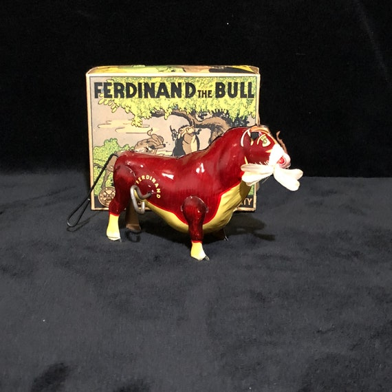 Ferdinand the Bull tin wind up toy Marx Toys Toys Toys Lithograph Etsy 57c0fa