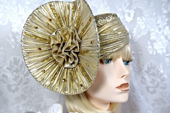 GATSBY HEADPIECE Gold Gatsby HAT Art Deco vintage