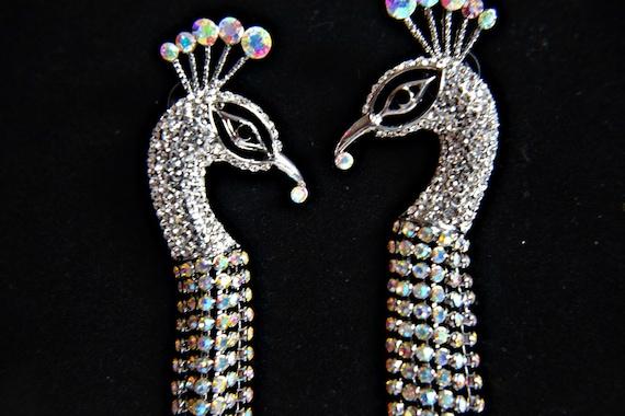 ART DECO earrings, Gatsby earrings PEACOCK Earring