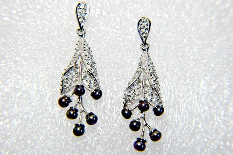 c4c8c633e Art Deco Earrings Gatsby earrings Black Pearl Earrings Black | Etsy
