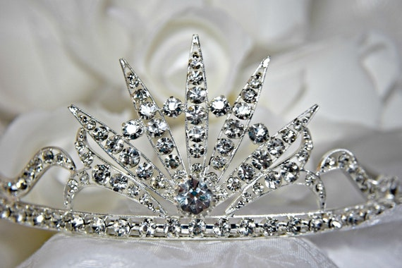WEDDING TIARA 5 PIECE Art Deco Tiara Celestial Sta