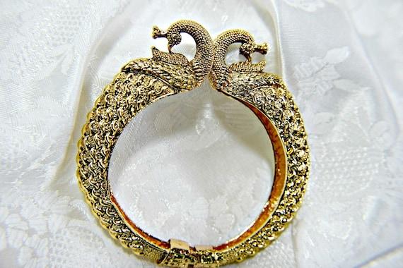 PEACOCK BRACELET, Art Deco bracelet, Gatsby bracel