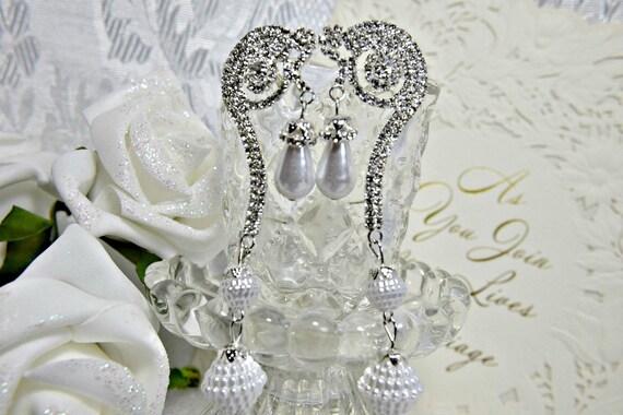 GATSBY Earrings, Art Deco earrings, PEARL EARRINGS
