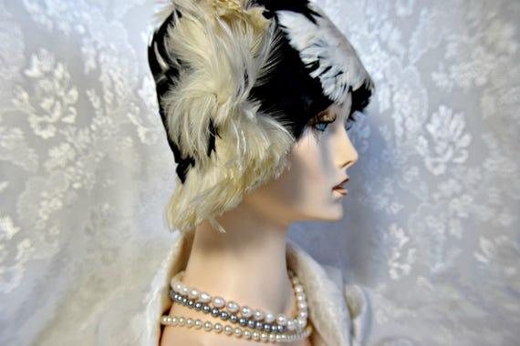 Art Deco headpiece Gatsby headpiece CLOCHE HAT 192