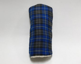 Blue and Gold Tartan Golf Club Cover