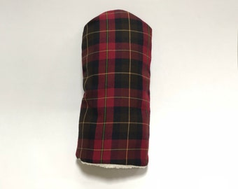 Red and Black Tartan Golf Club Cover