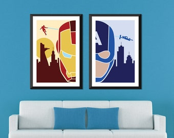 Marvel Minimalist: Ironman & Captain America Civil War Set