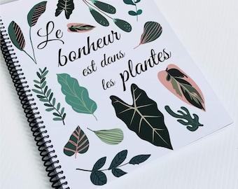128-page notebook, spiral notebook, notebook for creative notebook or bullet journal, catlady notebook, notebook