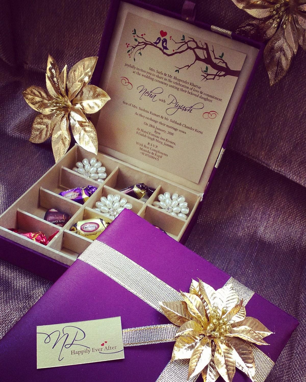 Wedding Box: Chocolate Box Gift Box Wedding Invitation Box