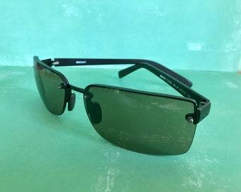 1b82d66b40b6 Vintage 1990's DKNY Sunglasses Donna Karan Black Square Lenses
