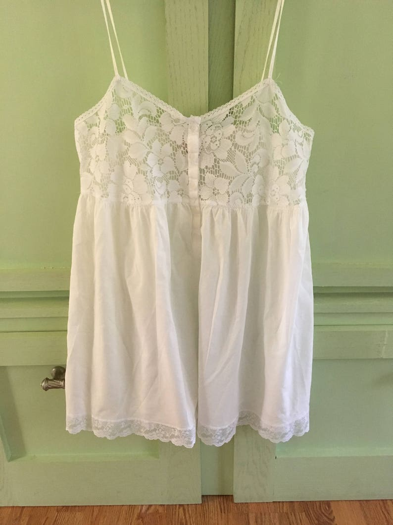 Size L Victorias Secret White Nighty Babydoll Lingerie Teddy Teddies