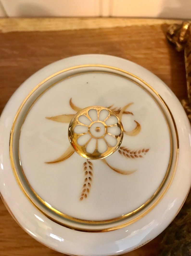 Vintage Abalone China Golden Grain Sugar and Creamer Set Made in Japan