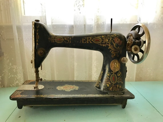 Antique Singer Sewing Machine Red Eye 40 Machine Head Etsy Fascinating 1910 Singer Sewing Machine For Sale