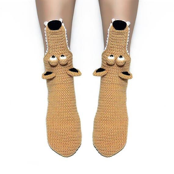crochet chaussures dr le Scrat Ice Age Unisex chaussettes chausson taille adulte chaud Accueil vwqzBX