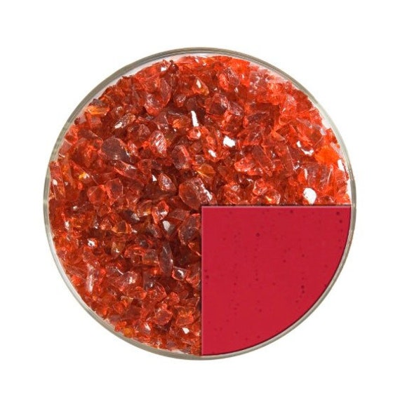 Red Opal Medium Glass Frit 90 COE For Microwave or Regular Kiln Fusing 1//2 LB