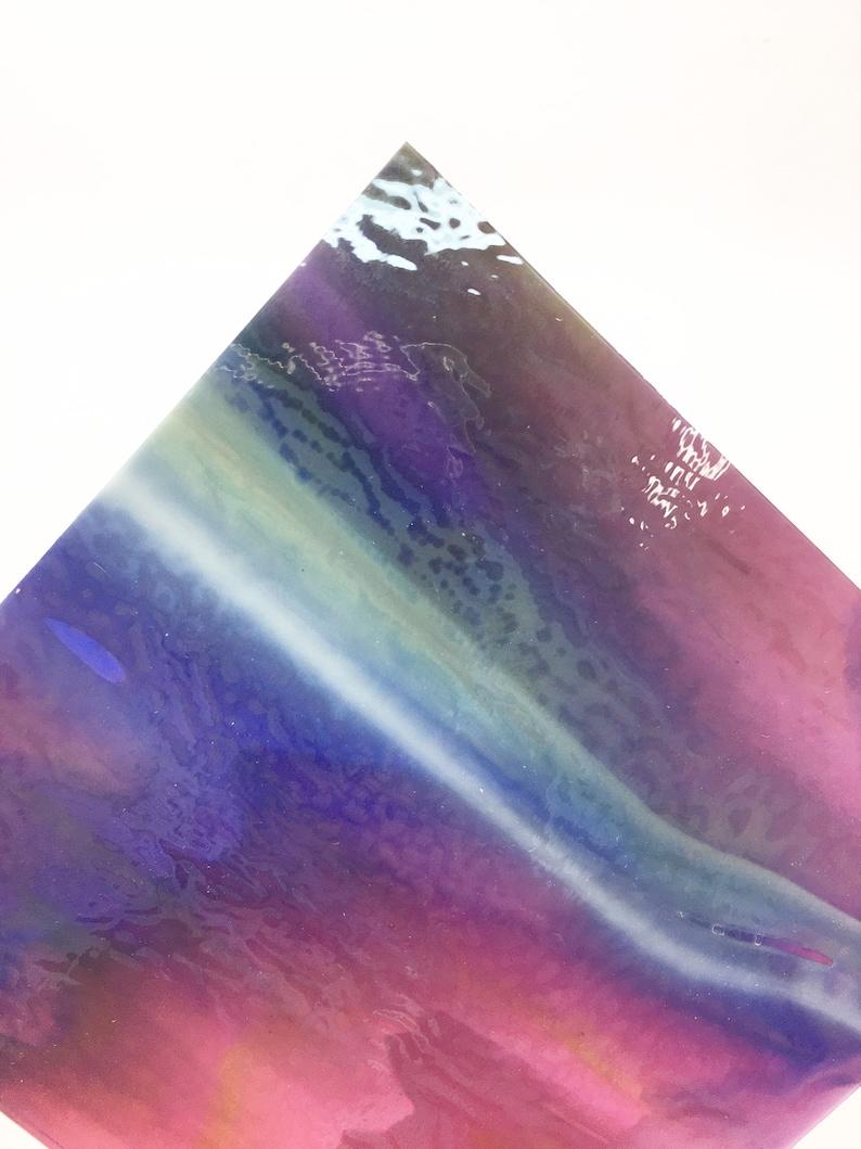 Cranberry pink blue spring green /& white opal streaky fused glass supplies Bullseye 5x5cm coe 90 fusing microwave kiln