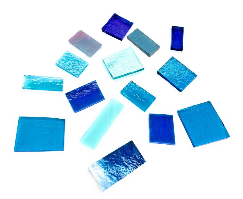 50g Bullseye Fusing Glass COE90 Blue turquoise Fused Supplies Craft Bundle