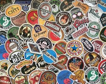 Lot of 50 stickers stickers beer, beer, brewery, logo, craft beer, deco bar, restaurant,