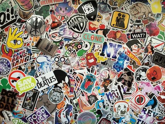 50x Stamp Stickers Graffiti Sticker Bomb Laptop Waterproof Decal Skate Car Decor
