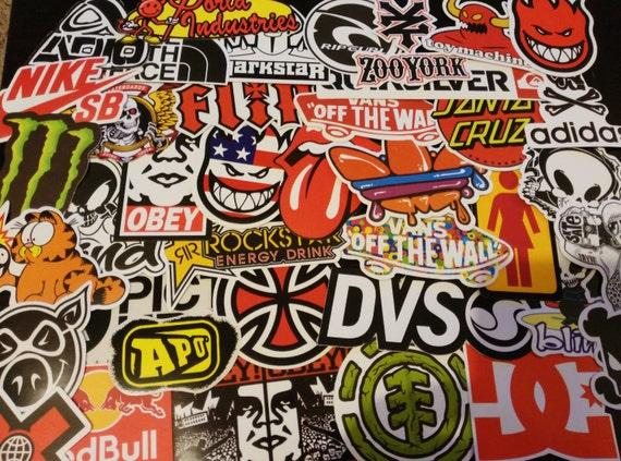 Stickers stickers lot brand skateboard snowboard rider ski