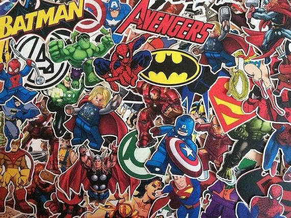 Lot De Stickers Marvel DC Comics Super Heros X Men | Etsy
