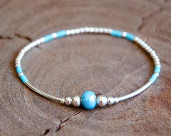 Bracelet JULIS turquoise et Argent 925
