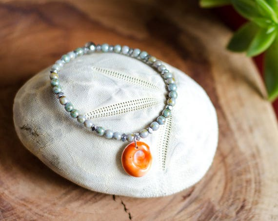 Bracelets LITHO - Beaded bracelet with eye of Santa Lucia
