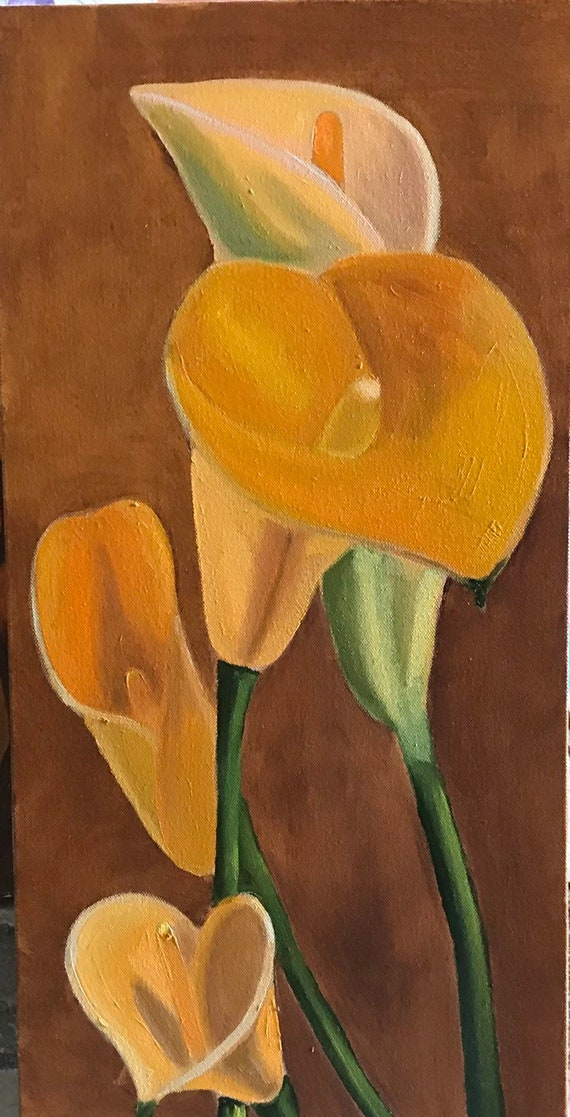 Calla lilies 2 done in oils