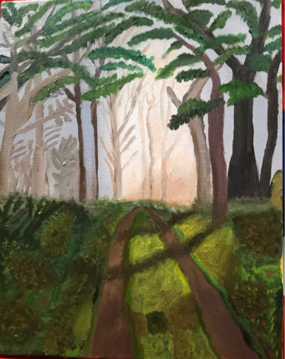 "Into the Woods.  Oil painting.  11 x 14""  1 1/2"" gallery wrapped."