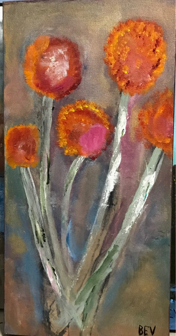 "Wild flowers. 12 x 24"" 1 1/2"" gallery wrapped."