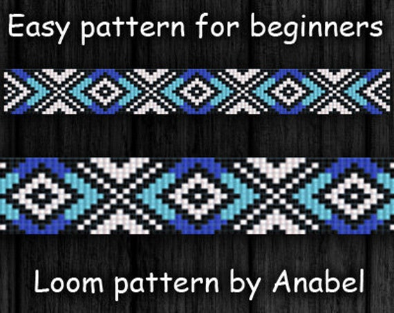 Easy Bead Weaving Pattern For Beginners Seed Bead Bracelet Etsy Extraordinary Bead Loom Patterns For Beginners
