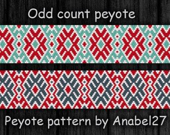 Peyote pattern, bead pattern #77, instant download pdf pattern, beaded cuff pattern, peyote bead pattern, bracelet pattern, jewelry making
