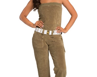 Sweet Vibes Tube Belted Jumpsuit