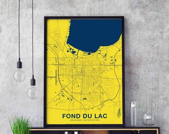 WISCONSIN Street Decal wi city state us wall road gift I LOVE FOND DU LAC