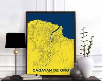 90bae2ecd0 CAGAYAN DE ORO Philippines map poster color wall decor design modern motto  swiss minimal nordic housewarming travel bedroom art
