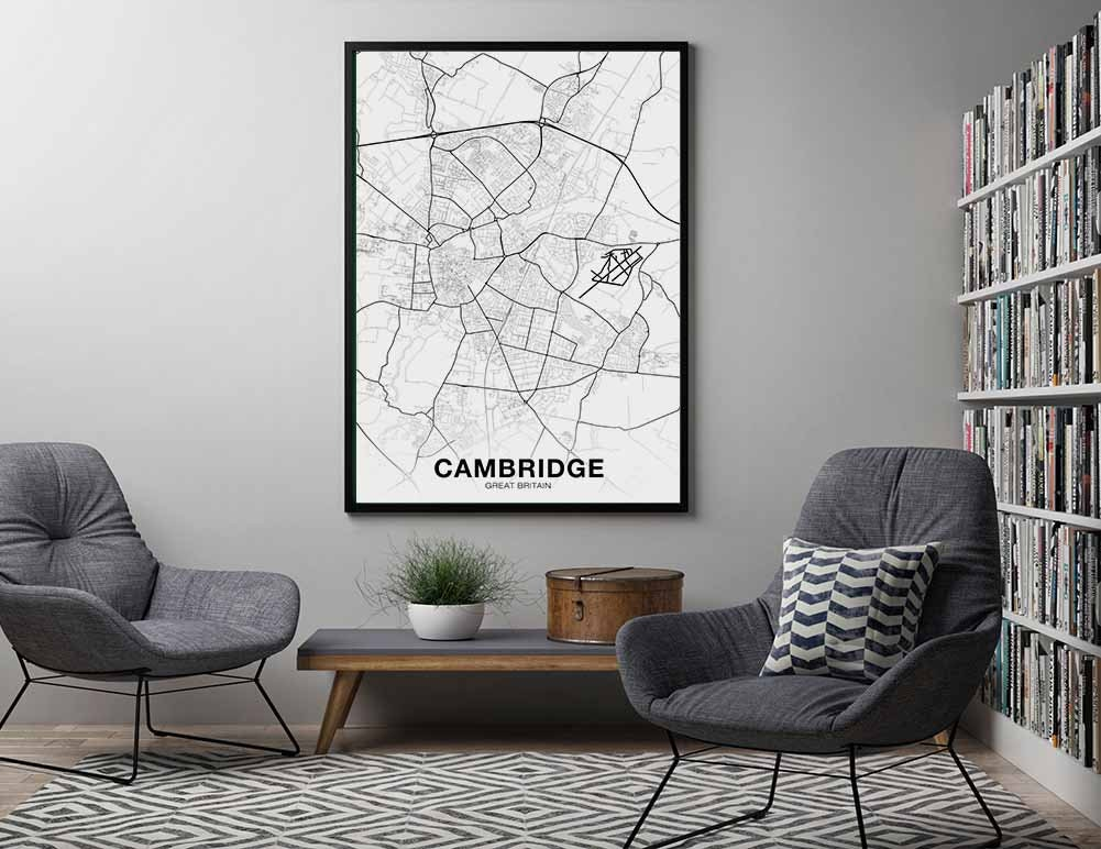 LINCOLN Great Britain UK map poster black white Hometown City Print Modern Home Decor Office Decoration Wall Art Dorm Bedroom Gift