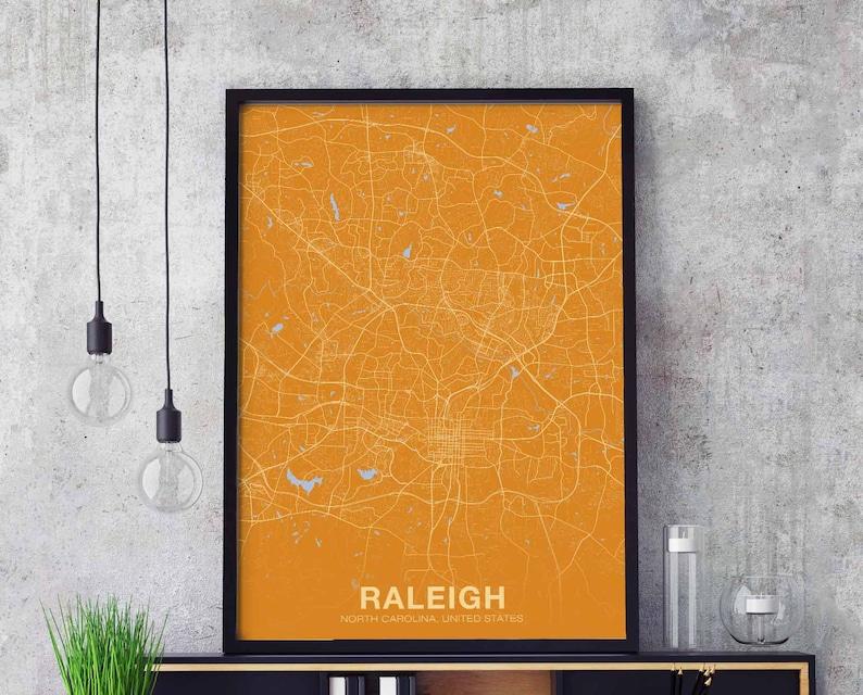 Raleigh North Carolina Nc Usa Map Poster Color Wall Decor Etsy - Raleigh-nc-on-us-map