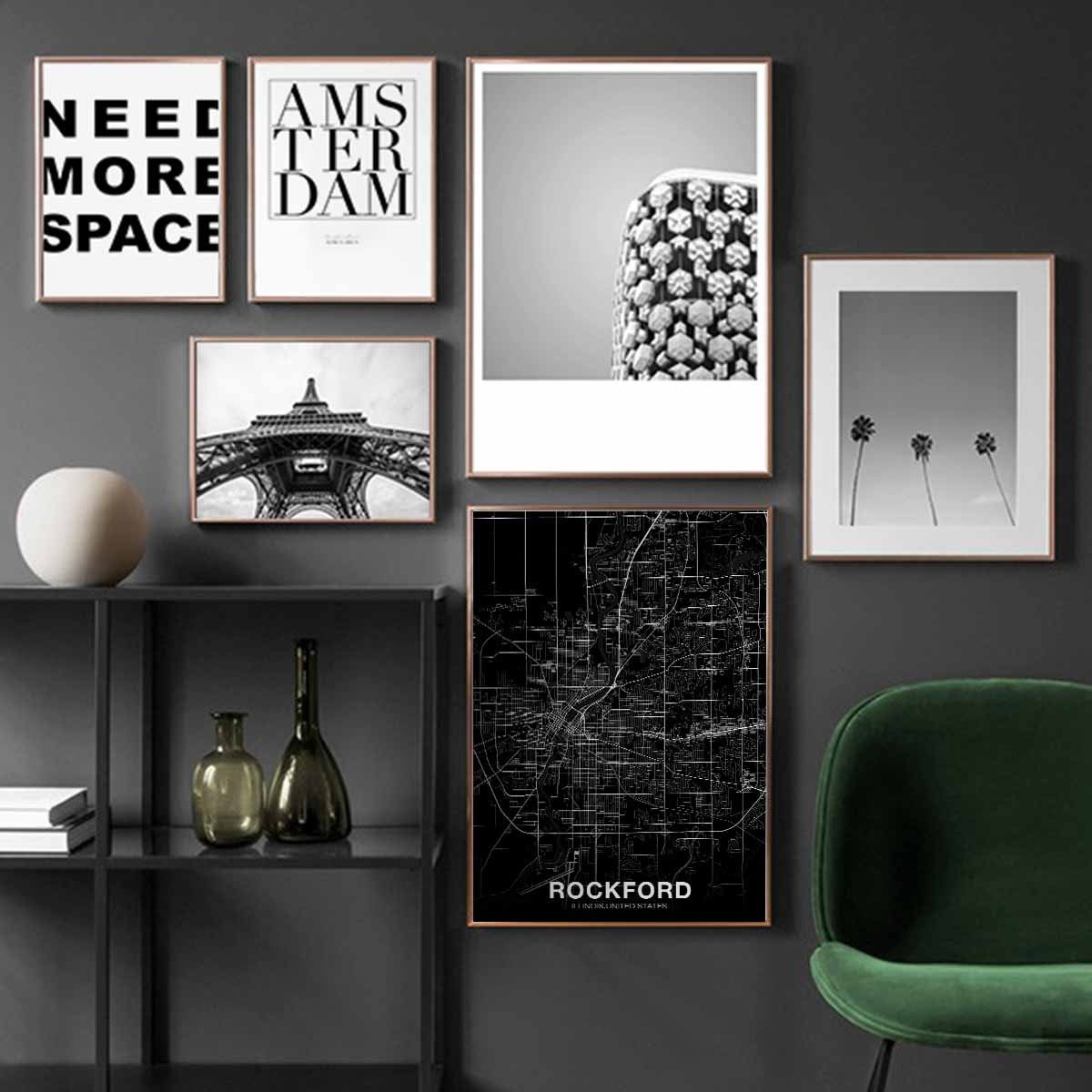 ORLAND PARK Illinois IL usa map poster black white  Hometown City Print Modern Home Decor Office Decoration Wall Art Dorm Bedroom Gift