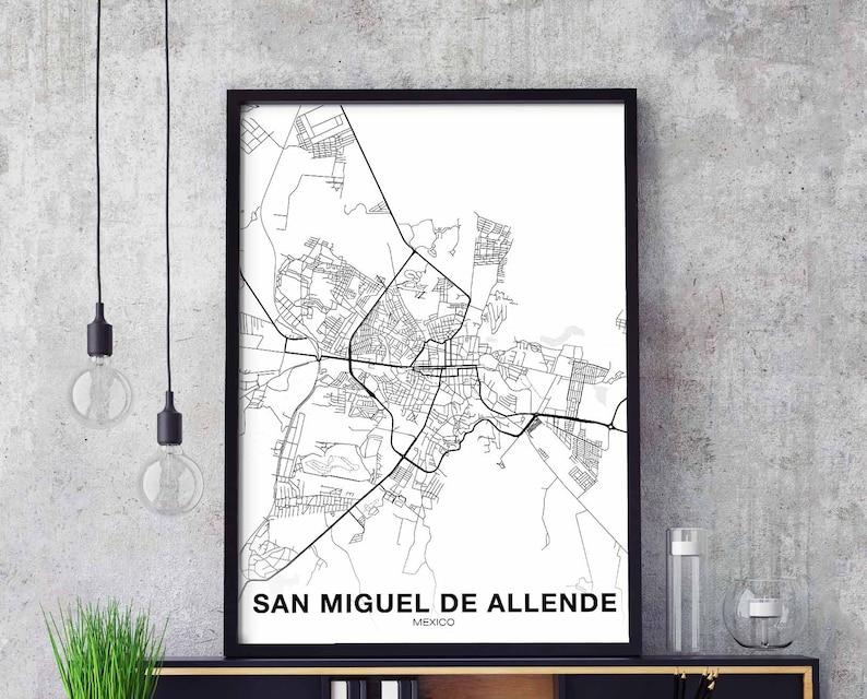 SAN MIGUEL de ALLENDE Mexico map poster black white wall decor design on tulancingo mexico map, coba mexico map, mazamitla mexico map, ixtapan de la sal mexico map, torreón mexico map, chilapa mexico map, guanajuato mexico map, tequesquitengo mexico map, san miguel cozumel mexico map, punta chivato mexico map, plaza garibaldi mexico map, colima volcano mexico map, anenecuilco mexico map, valle de bravo mexico map, ayotzinapa mexico map, allende coahuila mexico map, tenayuca mexico map, excellence resorts mexico map, lake cuitzeo mexico map, lagos de moreno mexico map,