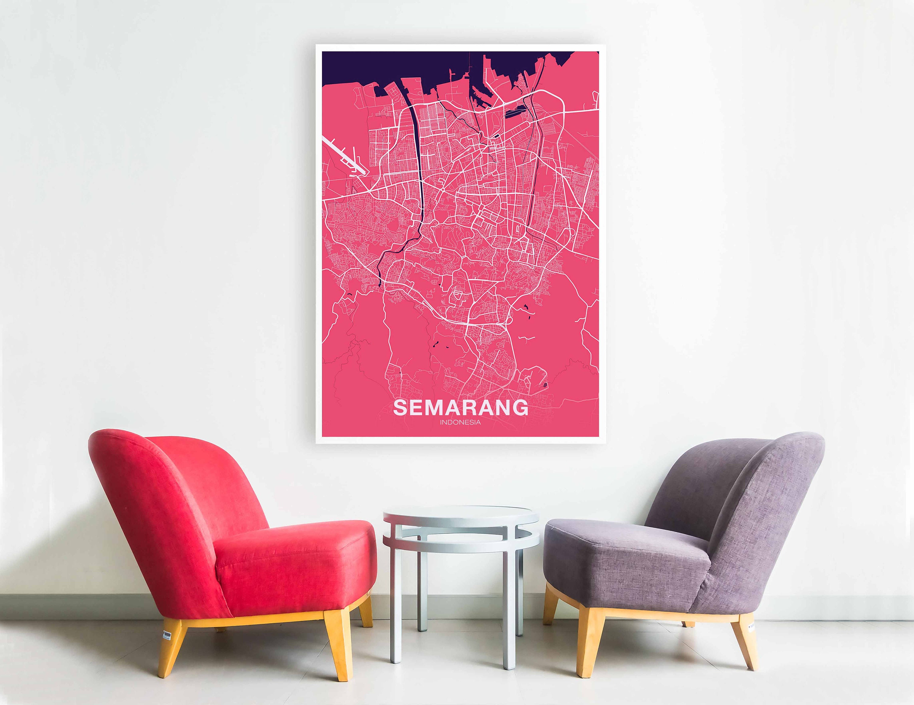 SEMARANG Indonesia poster color Hometown City Print Modern Home