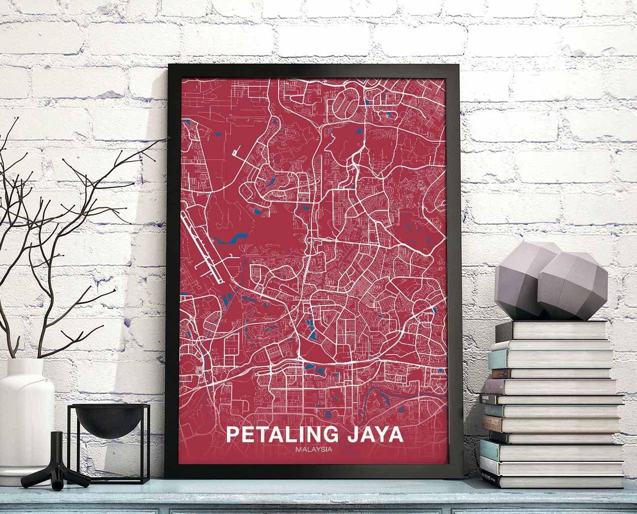 Petaling Jaya Malaysia Poster Color Wall Decor Design Modern