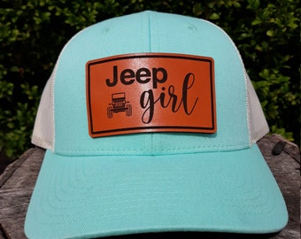 Jeep Girl Trucker Cap, Women's Jeep girl hat, Richardson hats,Jeep Lover Leather patch hat, Jeep life, Jeep Girl Baseball Hat,Jeep girl gift