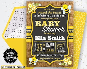 Bumble bee baby shower etsy solutioingenieria Choice Image