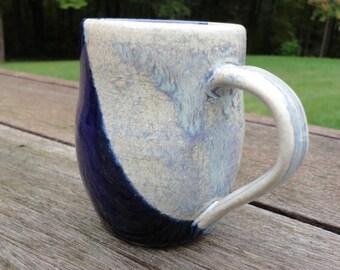 10 oz Blue Ceramic Mug - Stoneware
