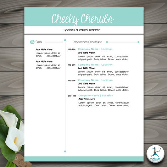 Resume Template with Picture | CV Template | FULLY EDITABLE with PowerPoint